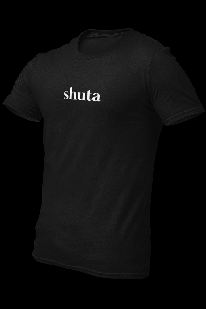 shuta Black Embroidered Cotton Shirt
