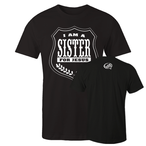I am a sisterBlack Cotton Shirt