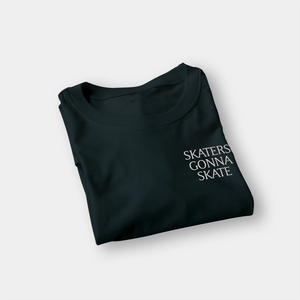 Skaters Gonna Skate Black Embroidered Shirt