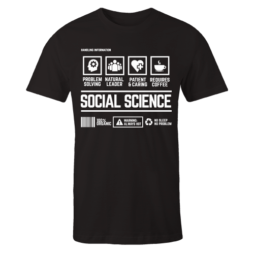 Social Science Black Cotton Shirt