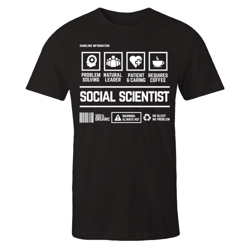 Social Scientist Handling Black Cotton Shirt