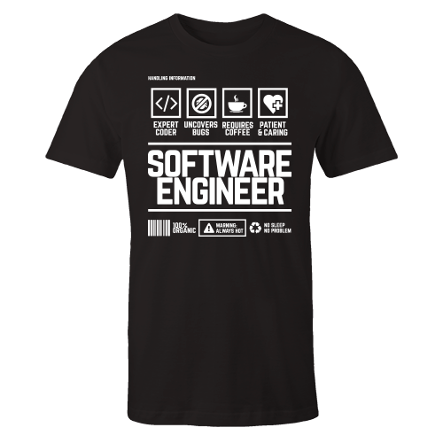 Software Engineer Handling Black Shirt