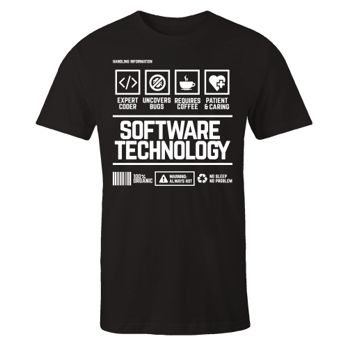 Software Technology Handling Black Shirt