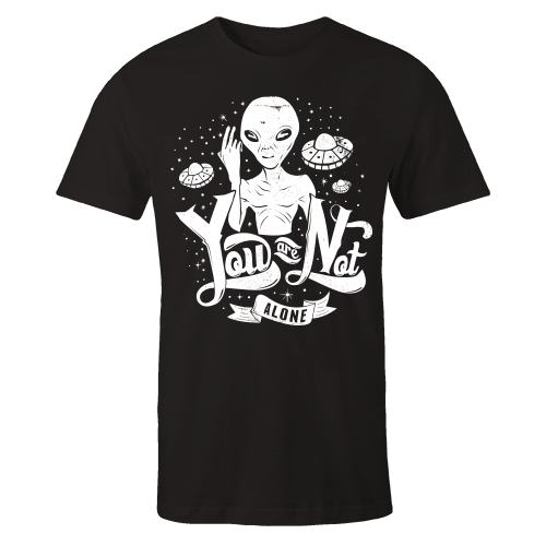 Space Alone Black Cotton Shirt