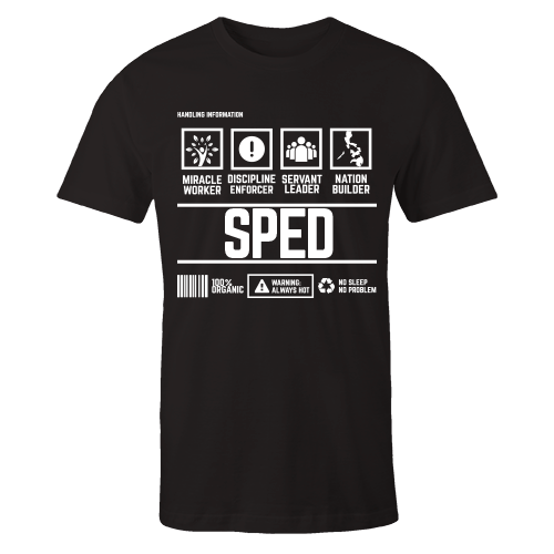 SPED Handling Black Cotton Shirt