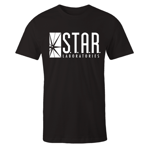 STAR Labs Black Embroidered Shirt