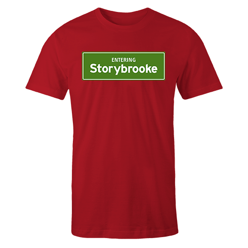 Entering Storybrooke Red Cotton Shirt
