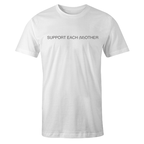 Support Each Mother White Cotton Shirt