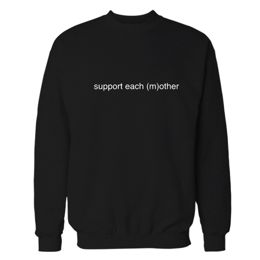 Support Black Cotton Sweatshirt