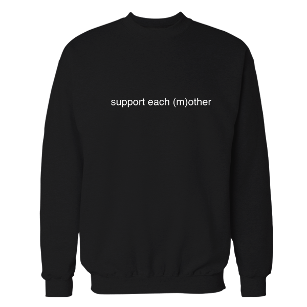 Support Black Embroidered Sweatshirt