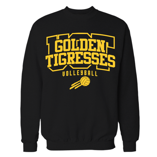 Golden Tigresses Black Cotton Sweatshirt