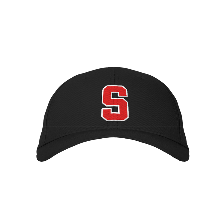 Letter S Black Embroidered Cap
