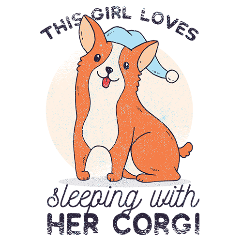 Sleepy Corgi Sublimation Dryfit Shirt