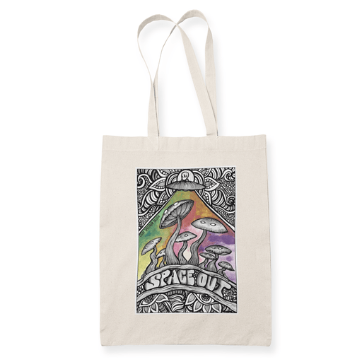 Spaceout Sublimation Canvass Tote Bag