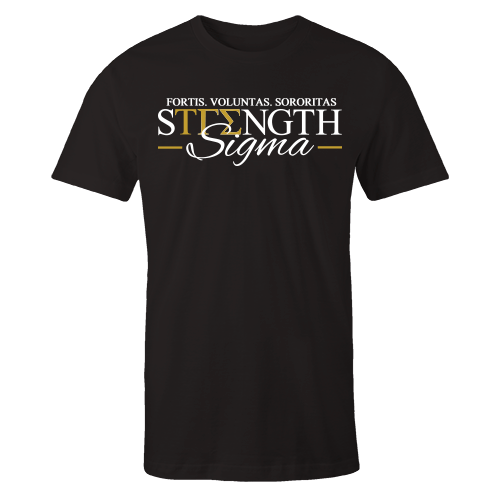 Strength Sigma Black Cotton Shirt