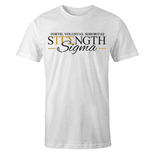 Strength Sigma White Cotton Shirt