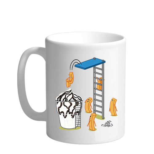 Sundae Fries Party Sublimation White Mug