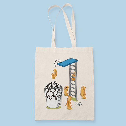 Sundae Fries Party Sublimation Canvass Tote Bag
