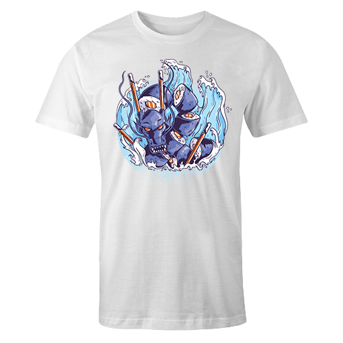 Sushi Dragon White Sublimation Dryfit Shirt
