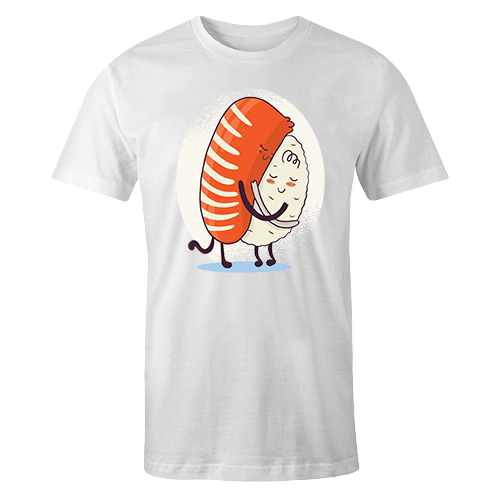 Sushi Hug White Sublimation Dryfit Shirt