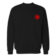 Targaryen Black Embroidered Cotton Shirt