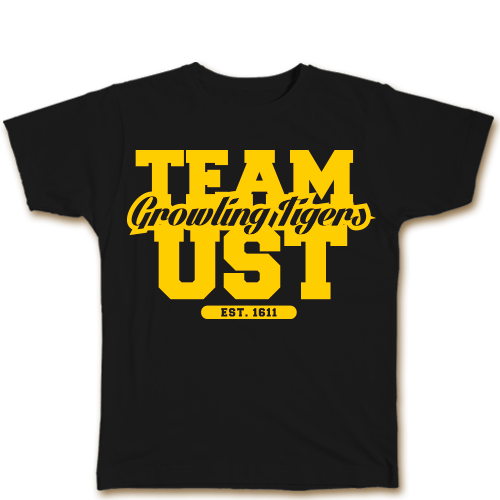 Team UST Black Cotton Shirt