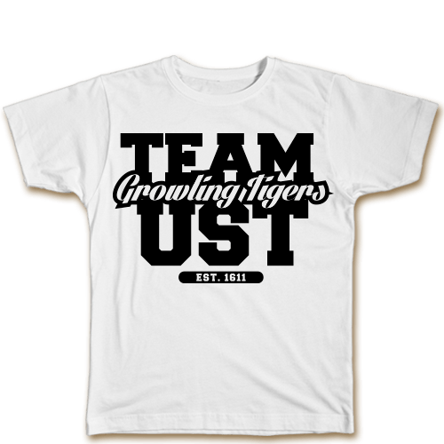 Team UST White Cotton Shirt