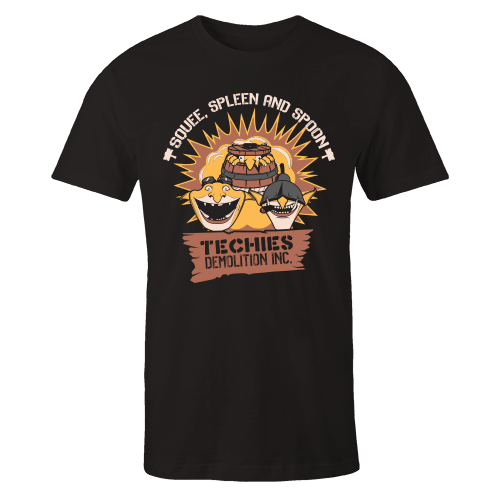 Techies Black Cotton Shirt