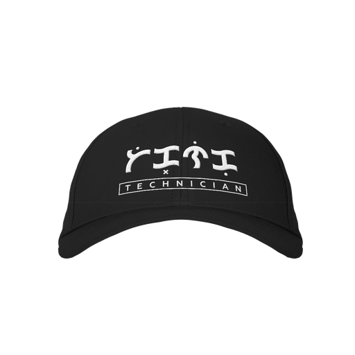 Technician Black Embroidered Cap