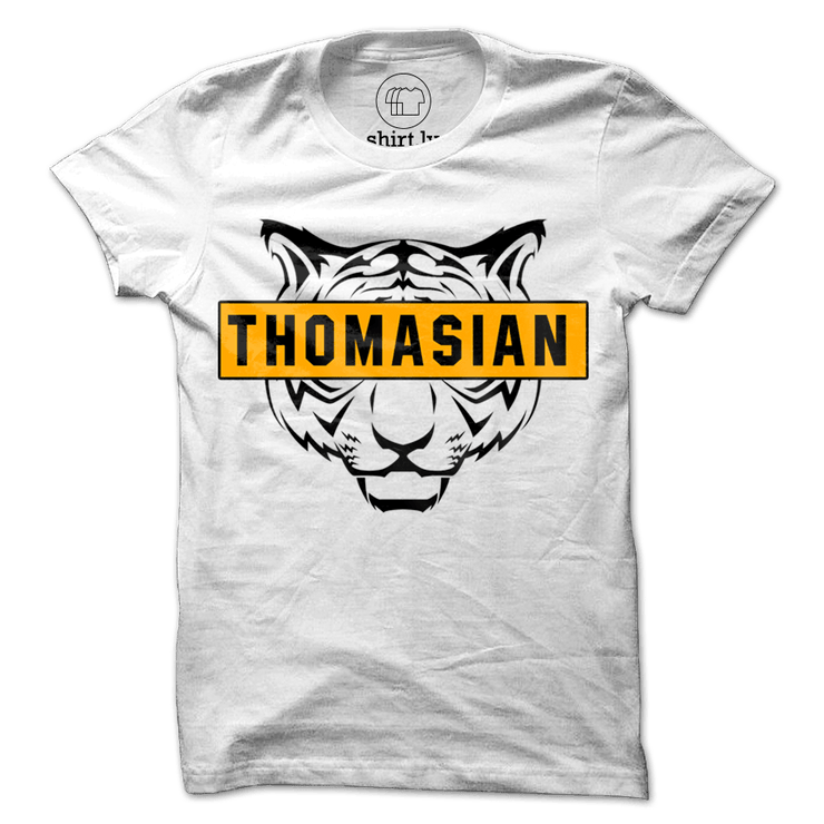 Thomasian Tiger White Cotton Shirt