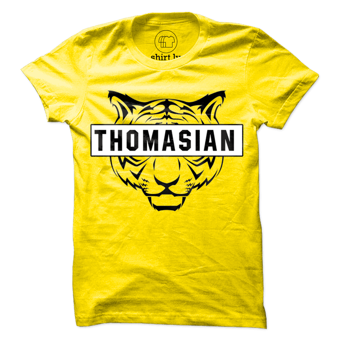 Thomasian Tiger Yellow Cotton Shirt