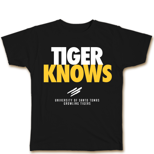 Tiger Knows Black Cotton Shirt