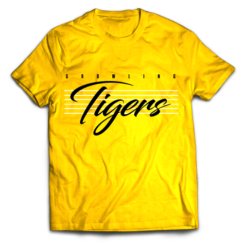 Tigers Lines Yellow Cotton Shirt