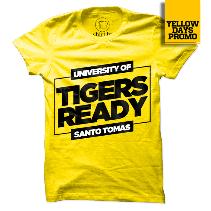 TIGERS READY Yellow Cotton Shirt