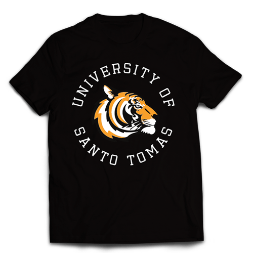 Tiger Circle Black Cotton Shirt
