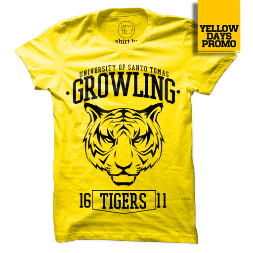 TIGER HEAD Yellow Cotton Shirt