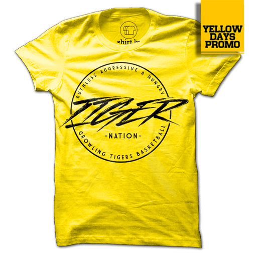 TIGER NATION Yellow Cotton Shirt