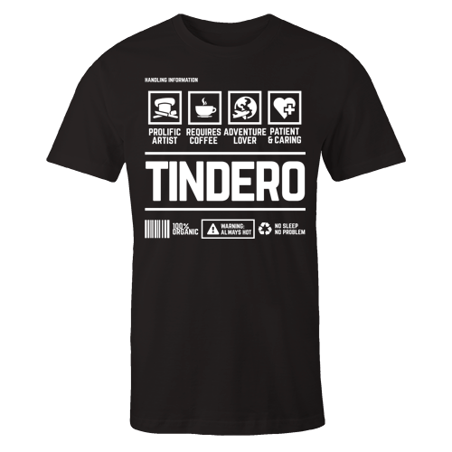 Tindero Handling Black Cotton Shirt