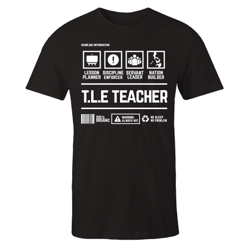 TLE Teacher Black Cotton Shirt