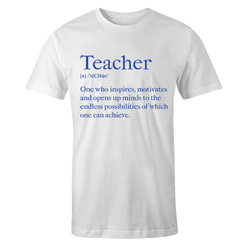 Teacher Meaning Cotton Shirt