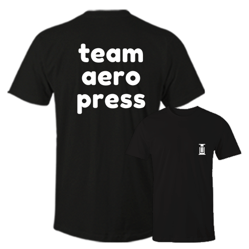 Team Aero Press Black Cotton Shirt Pocket Size Print