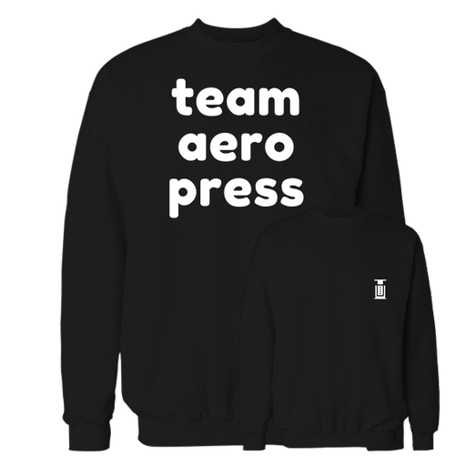 Team Aero Press Black Cotton Sweatshirt Pocket size print