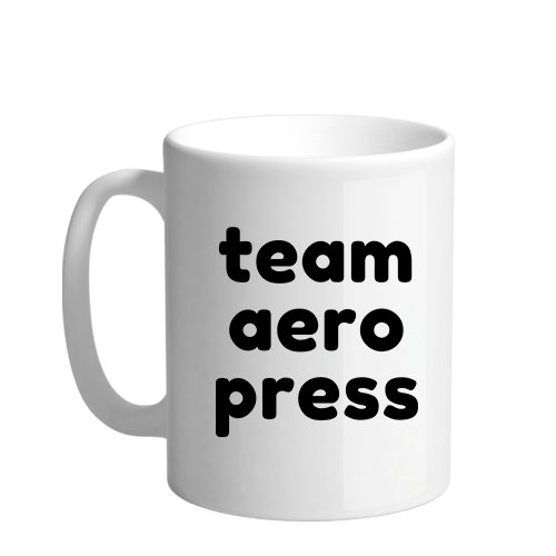 Team Aero Press Sublimation White Mug