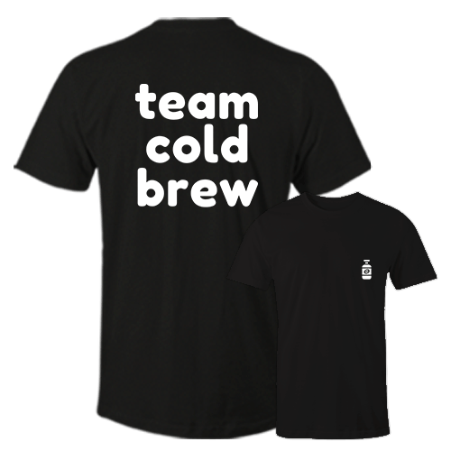Team Cold Brew Black Cotton Shirt Pocket Size Print