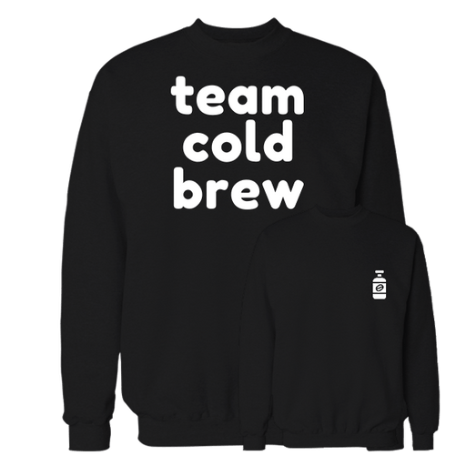 Team Cold Brew Black Cotton Sweatshirt Pocket size print