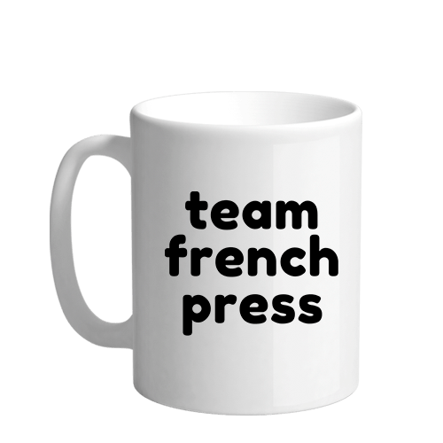Team French Press Sublimation White Mug