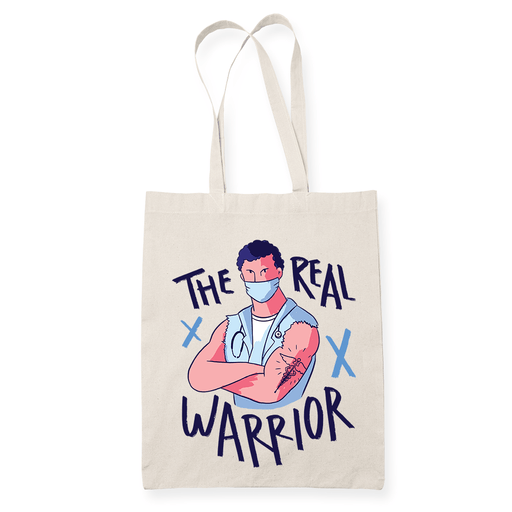 The Real Warrior Sublimation Canvass Tote Bag
