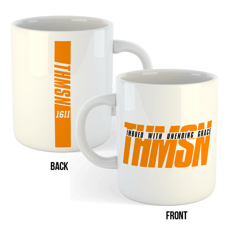 Thmsn 2 Sublimation White Mug Front and back print