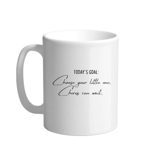 Todays Goal Sublimation White Mug