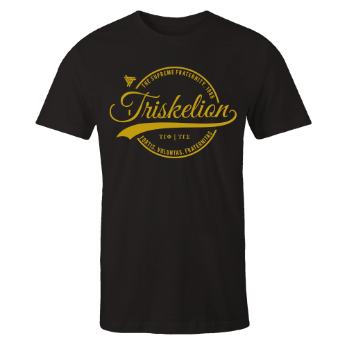 Triskelion Circle Black Cotton Shirt
